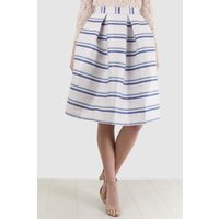Multi Prom Skirt in Metallic Stripe Jacquard