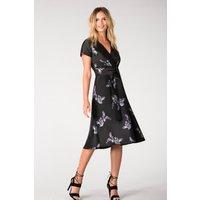 Closet Pleated Wrap Dress