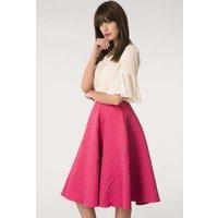 Fuchsia Flared Full Skirt
