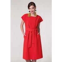 Red Wrap Kimono Dress