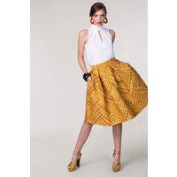 CLOSET Yellow Pleated Full Skirt