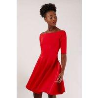 Red Bardot Skater Dress