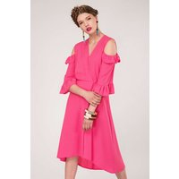 Pink A-Line Wrap Dress