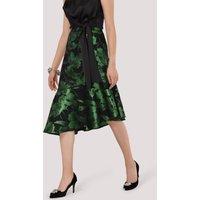 Closet GOLD Green Asymmetric Hem Skirt