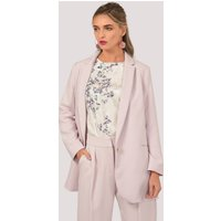Pink Double Vent Boxy Jacket