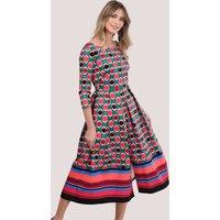 Pink Polka Dot Full Skirt Dress