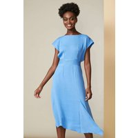 Blue Asymmetric A-Line Dress