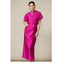 Magenta Kimono Wrap Dress