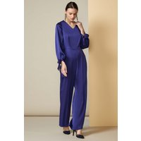 Midnight Blue Puff Sleeve Jumpsuit