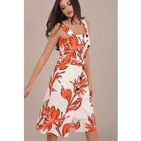 Sleeveless-Printed-Palm-Tree-Dress