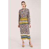 Snakeskin Print Midi Dress