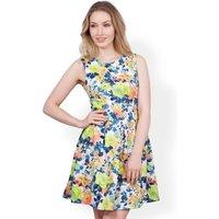 Closet Floral V-Back Quilted Dress