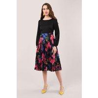 Black-2-in-1-Floral-Dress