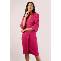 Pink Wrap Pencil Dress