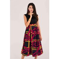 Closet GOLD Abstract Check 2-in-1 Evening Dress