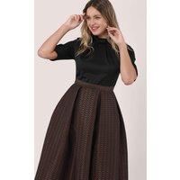 Closet GOLD Bronze Metallic 2-in-1 Evening Dress