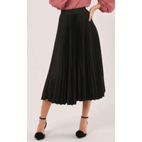 Black Pleated Sunray Skirt