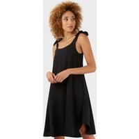Black Bow Tie Strap Round Hem Dress