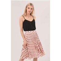 Pink Mini Pleated Skirt