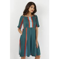 Multi Bardot 3/4 Sleeve Dress