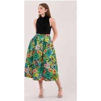 Multi Knot Tropical Print Skirt Dress