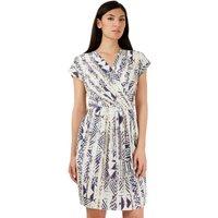 Closet Tribal Print Tulip Wrap Dress