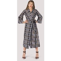 Closet Wrap Dress With Bell Sleeve
