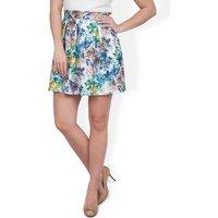 CLOSET Floral print scuba skirt
