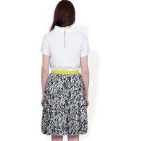 CLOSET BLU Print pleat skirt