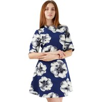 CLoset London Flared Sleeve Big Floral A Line Dress
