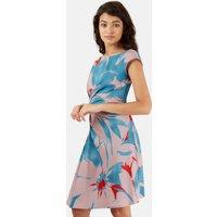 Closet Side Ruffle Print Dress