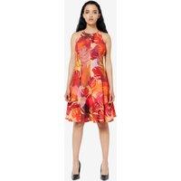 Closet Red Floral A Line Dress
