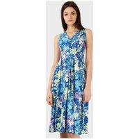 Closet V Neck Print Midi Dress