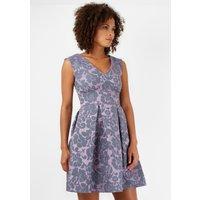 Lilac V Front Jacquard Dress