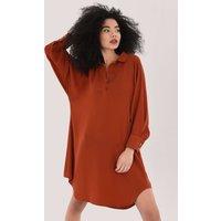 Closet London Rust Tunic Shirt Dress