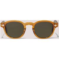 Sienna Shiny Cognac  Round Sunglasses