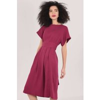 Closet London Purple Kimono Pleated A-Line Dress