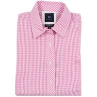 Crew Clothing Ladies Classic Gingham Shirt Candy Floss 16