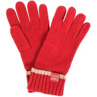 Joules Huddle Knitted Gloves Red