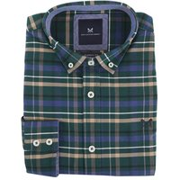 Crew Clothing Mens Ridgegate Shirt Ivy/Stone/Black XXL