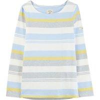 Joules Harbour Top Blue Grey Lemon Stripe  12