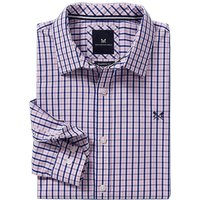 Crew Clothing Classic Tattersall Shirt Pink/Ultramarine Large