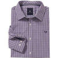 Crew Clothing Classic Tattersall Shirt Bright Purple/Navy Small