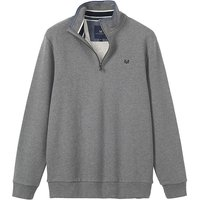 Crew Clothing Classic Half Zip Sweatshirt Grey Marl Large