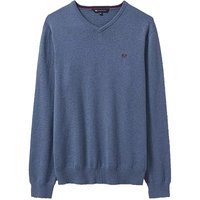 Crew Clothing Foxley V Neck Jumper Steel Blue Small
