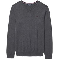 Crew Clothing Foxley V Neck Jumper Charcoal XXL