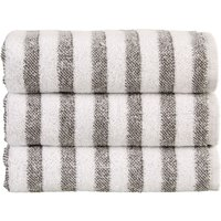 Christy Soho Stripe Towels Granite Bath Sheet
