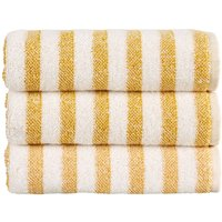 Christy Soho Stripe Towels Ochre Bath Sheet