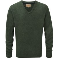 Schoffel Mens Lambswool V Neck Jumper Forest XL