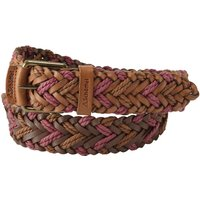 Schoffel Woven Leather Belt Tan/ Rose Medium